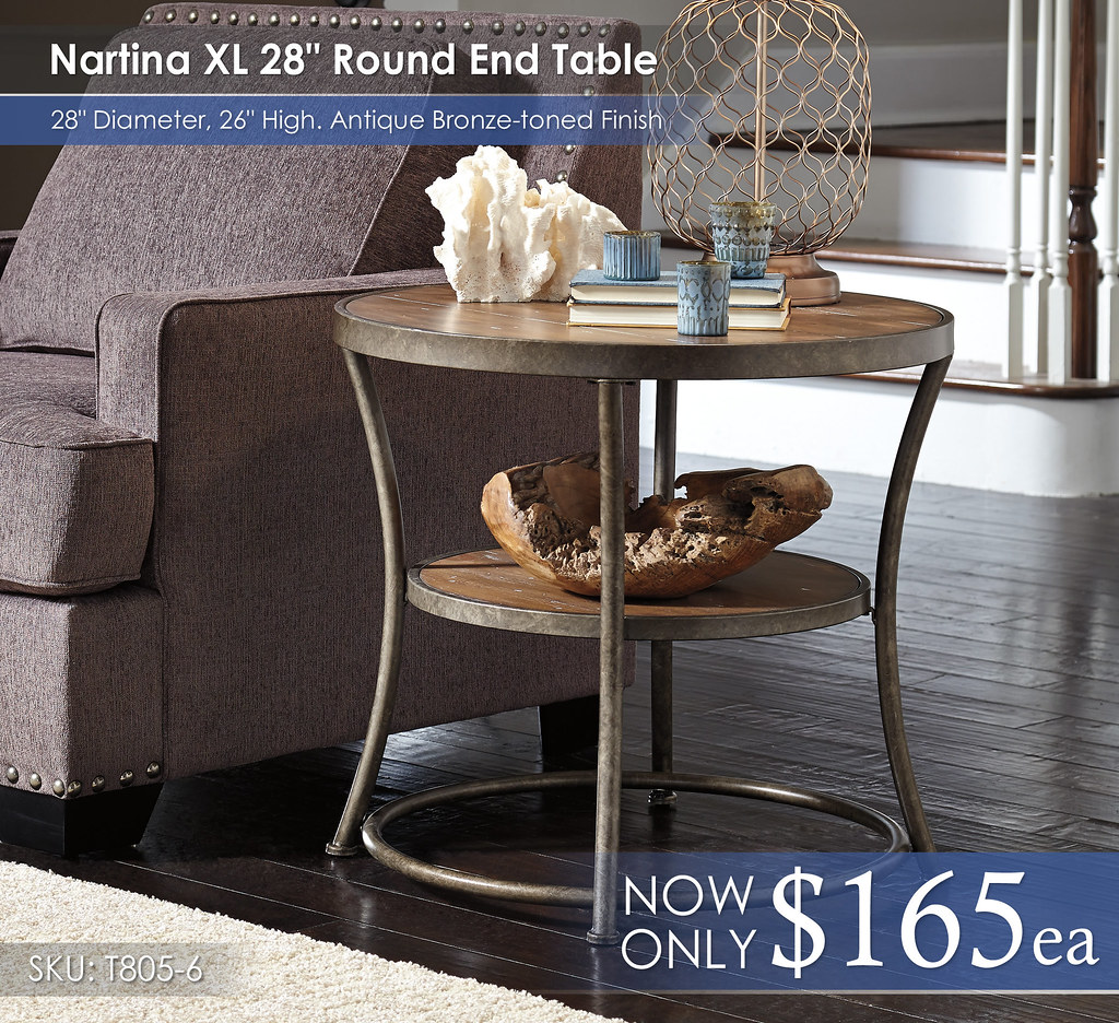 Nartina XL 28in Round End Tables