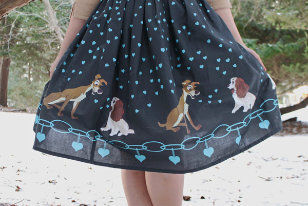 lady and the tramp skirt design vintage