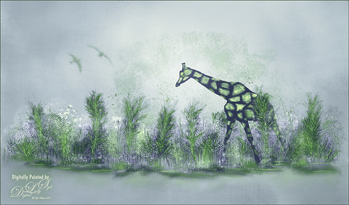 Painting of a Giraffe's Home
