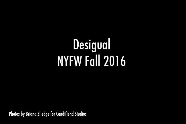 NYFW FW 2016 | Desigual