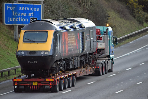 Towed Car Finder >> GWR's Poorly HST Power Car 'Harry Patch' gets a Piggyback | Flickr