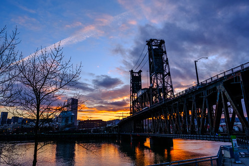 Sunset at the Steel Bridge