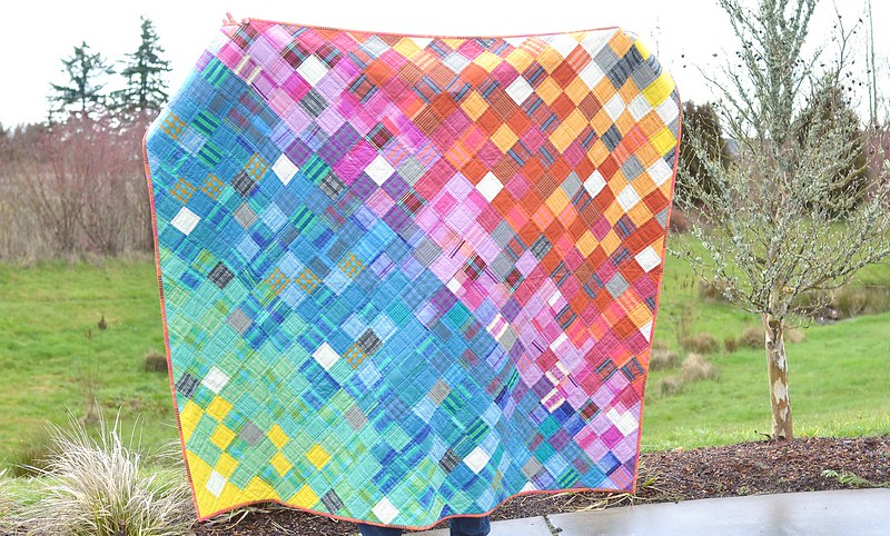 Rainbow Loominous Quilt
