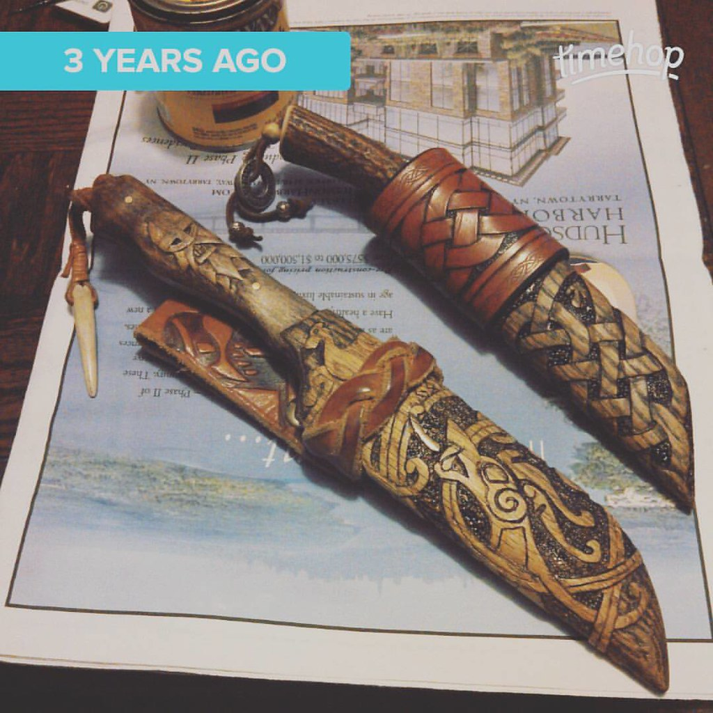 Wood woodcarving sheath knife seax viking vikings for Wood carving tattoo real
