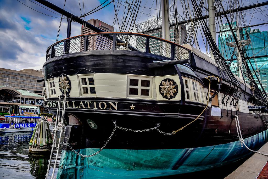 USS Constellation Historic Ship at Inner Harbor - Baltimor… | Flickr
