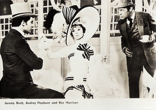 Audrey Hepburn, Jeremy Brett, Rex Harrison in My Fair Lady (1964)