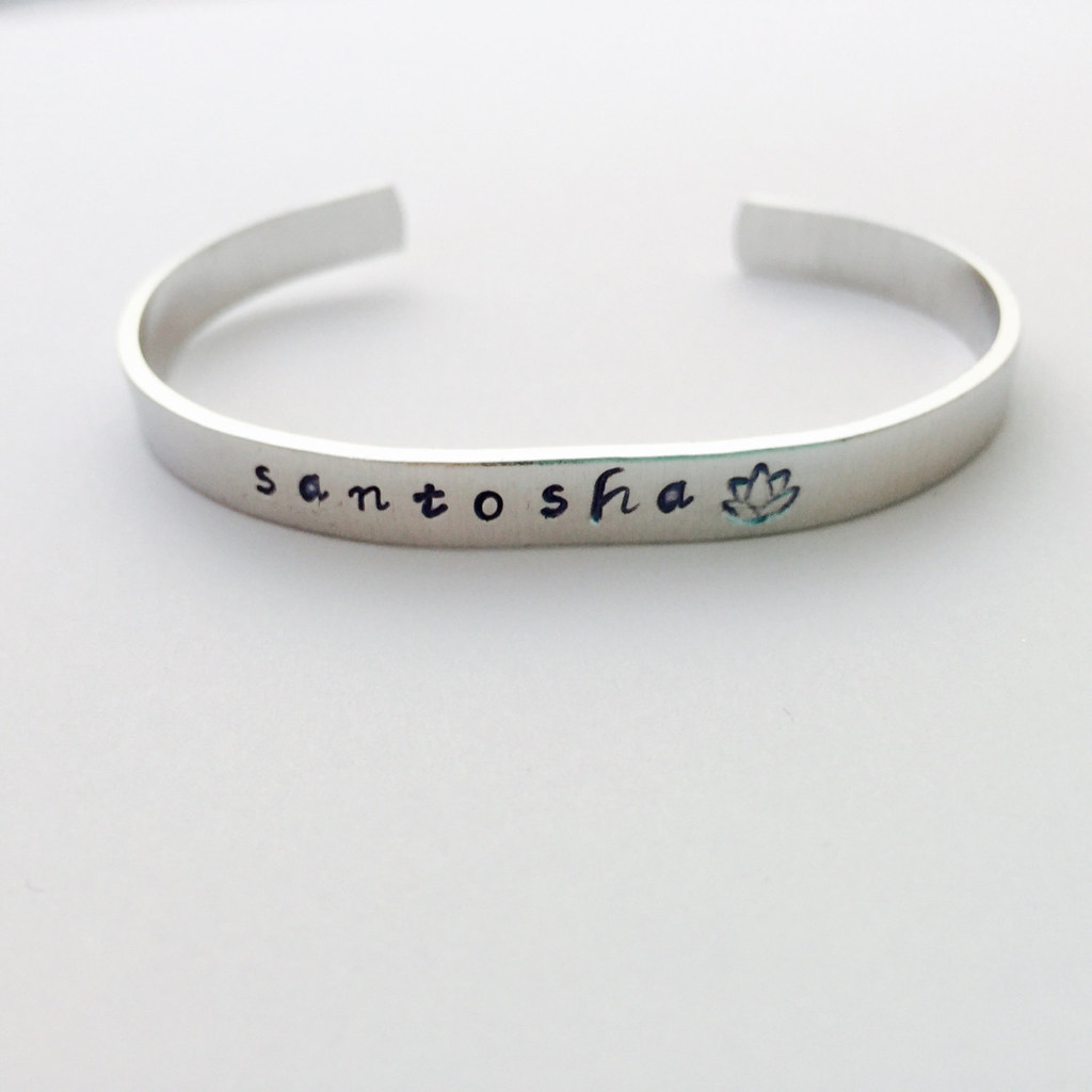 Santosha Bracelet by Indo Love on Etsy