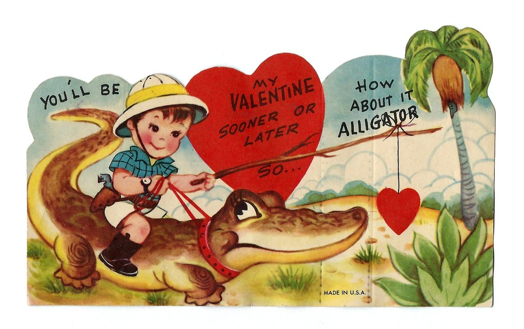 Vintage Valentine Card You Ll Be My Valentine Sooner Or Flickr