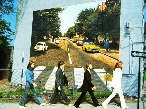 Wall abbey road mural for susan nyc and the manipulate for Abbey road mural