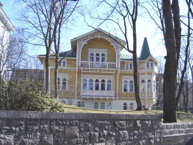Carpenter Gothic in Kaivopuisto, Helsinki