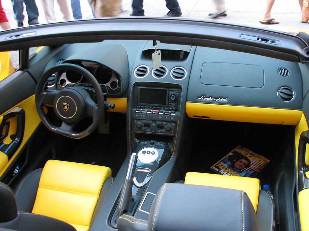 Lamborghini inside | Thursday afternoon, on Cresent street ...