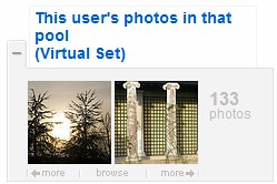 Virtual Set - user's photos in that pool | by .CK