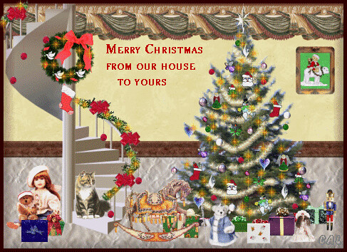Christmas-Clipart-Animated-Merry Christmas From Our House … | Flickr