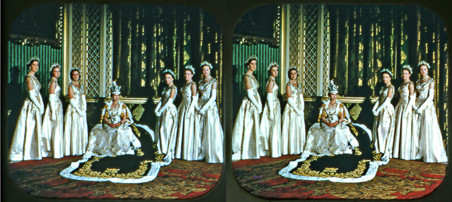 """Queen Elizabeth II and Her Ladies in Waiting"" 