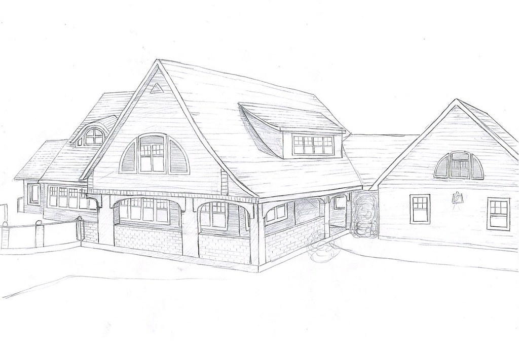 my house drawing  front side