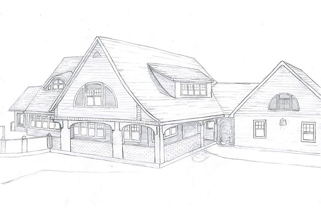 My House Drawing Front Side Flickr Photo Sharing