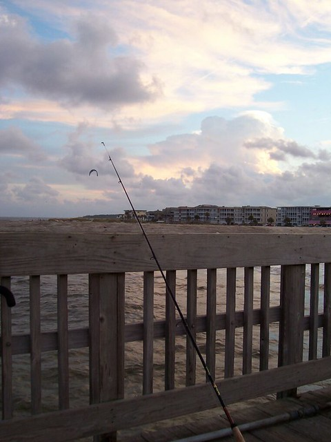 Fishing from the pier tybee island pier at sunset flickr for Tybee island fishing pier