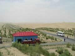 Taklamakan desert pumping station | by dmcooper_onechib