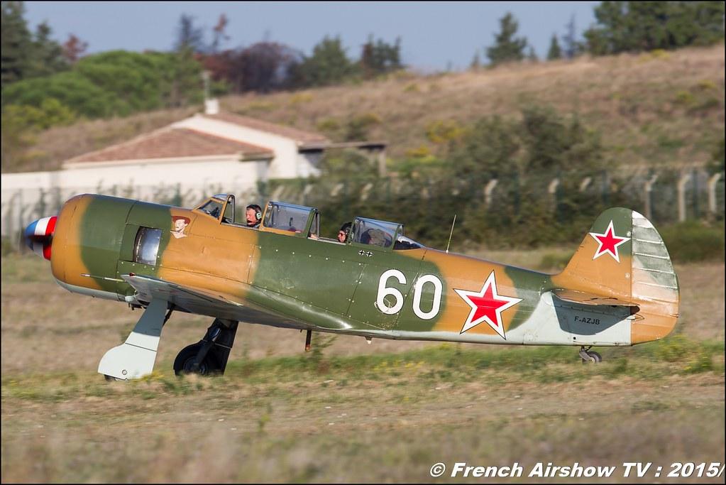 Let C-11 Yak-11 , F-AZJB , Aeroretro Saint Rambert d'Albon, Feria de l'air nimes garons 2016, Meeting Aerien 2015