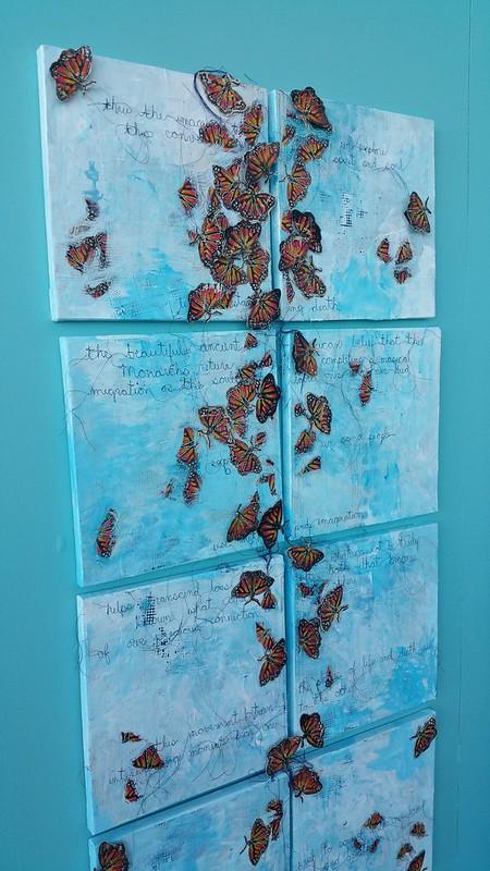 monarch butterflies, the day of the dead folk art