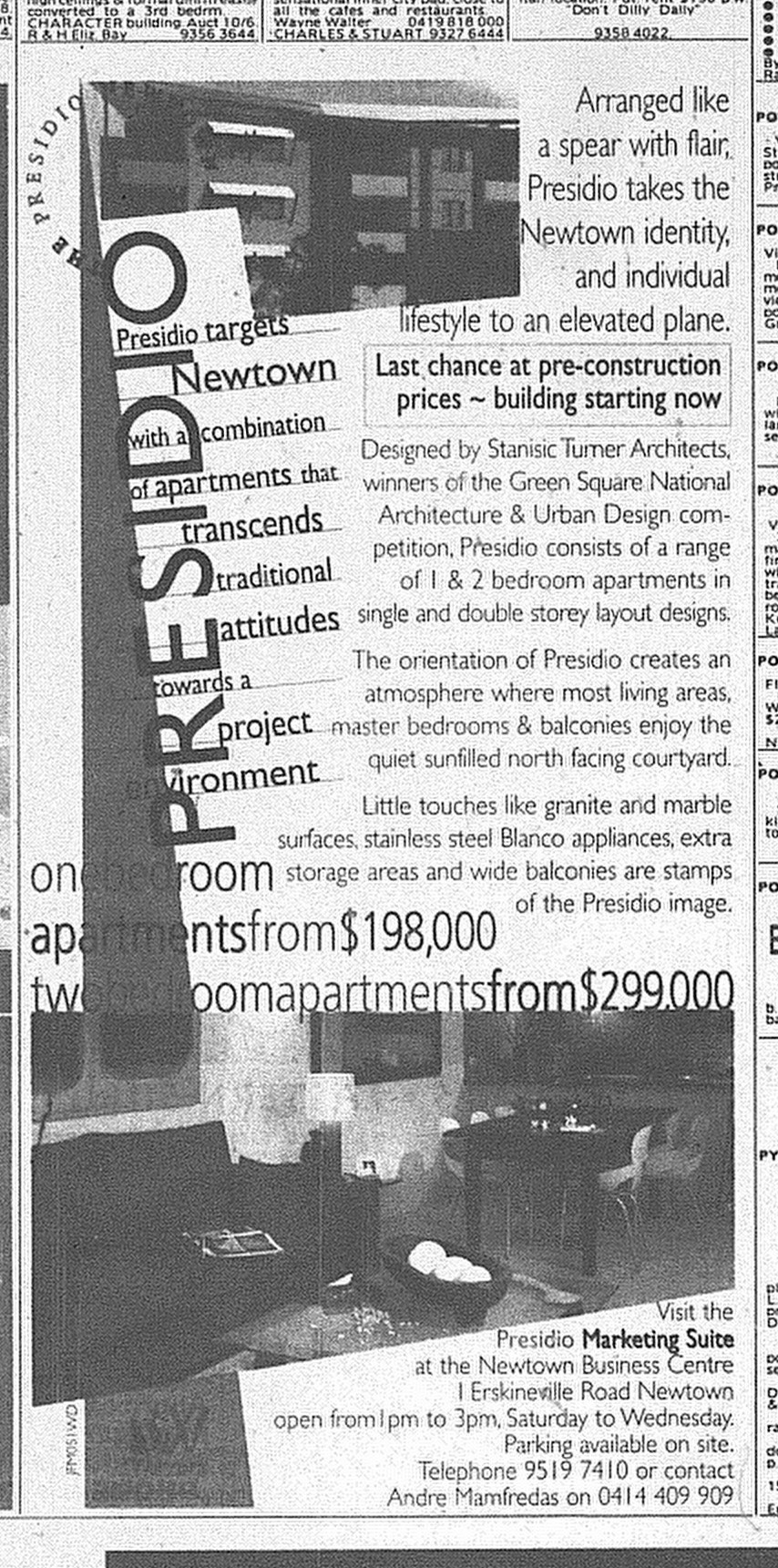 Presideo Targets June 5 1999 SMH 19RE