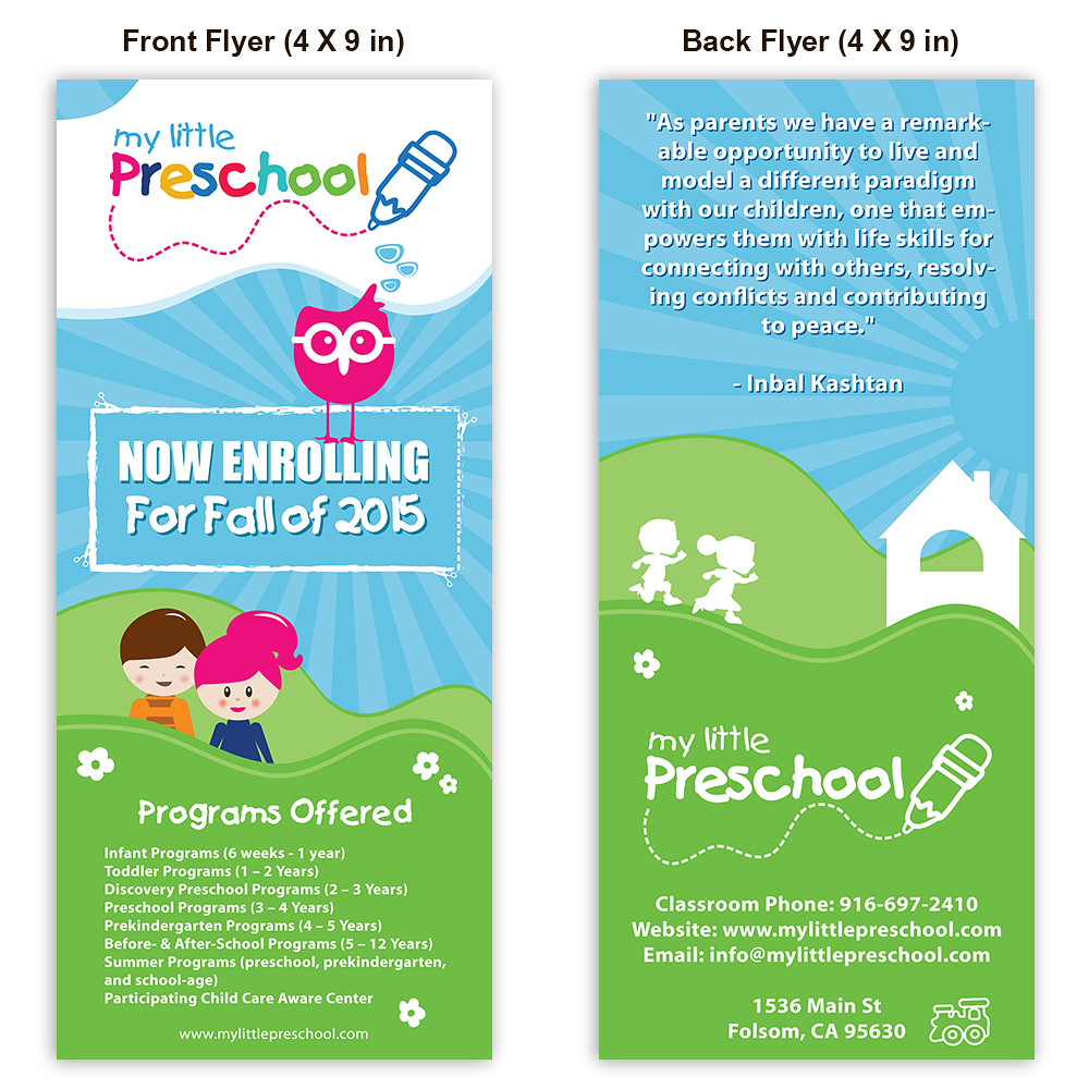 Preschool Flyer Template | For purchase only - essentialstoc… | Flickr