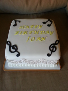 Musical note birthday cake | by platypus1974