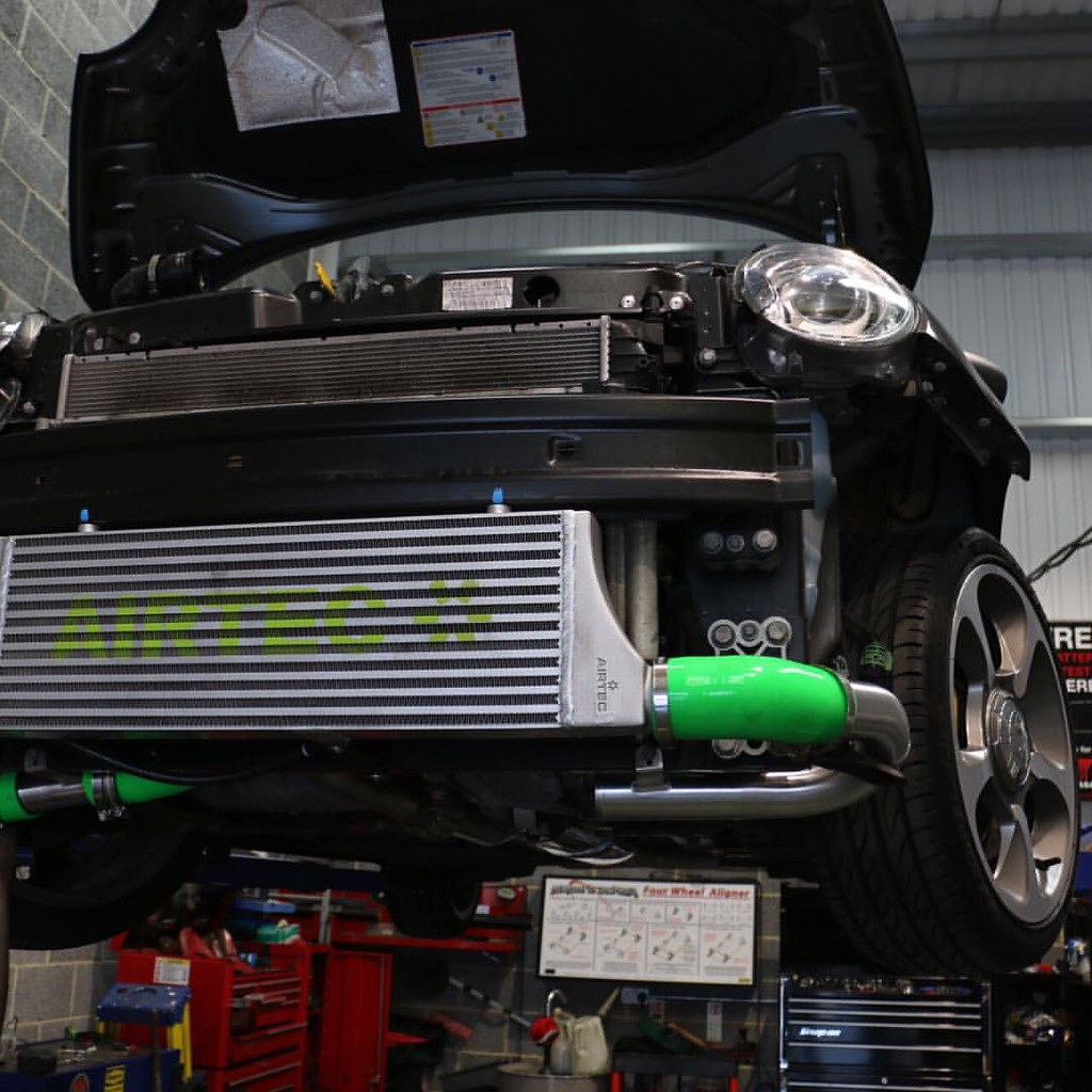 Fiat 500 Abarth Having An Airtec Intercooler Fitted By Us
