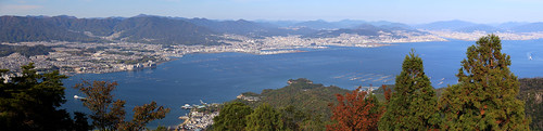 Panorama View from top of Mount Misen Miyajima Island