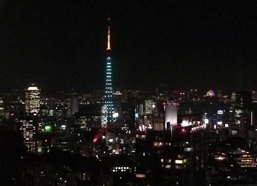東京タワーのライトアップ 2015.11.2
