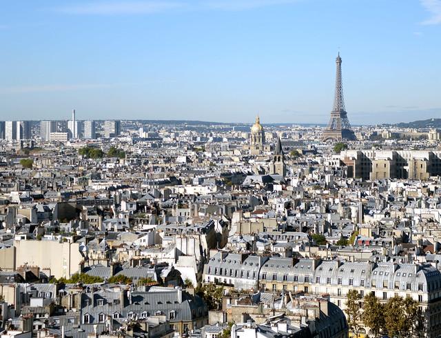 Vistas de París desde Notre Dame y una junto a los mejores hoteles donde dormir en París, la capital del amor