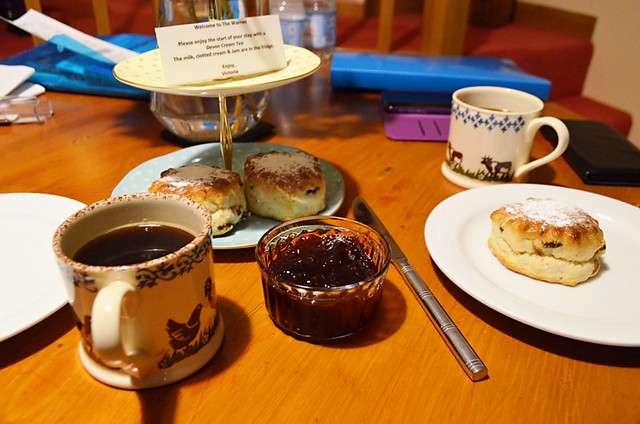 Scones and jam, Devon, England, Britain