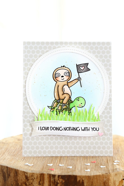 sloth valentine (Just ME digital stamps)