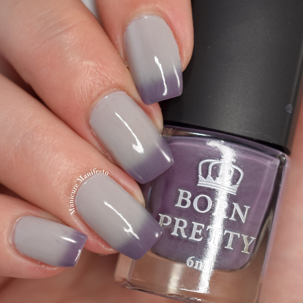 Purple temperature nail polish