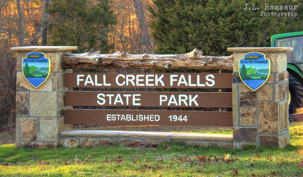 ... Fall Creek Falls State Park Sign   Van Buren County, Tennessee | By  J.L. Ramsaur