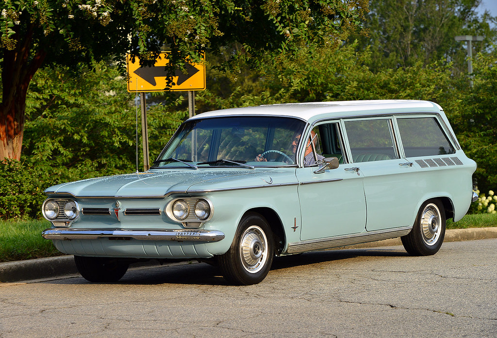 A Rare Chevy Corvair Station Wagon At The August 2015