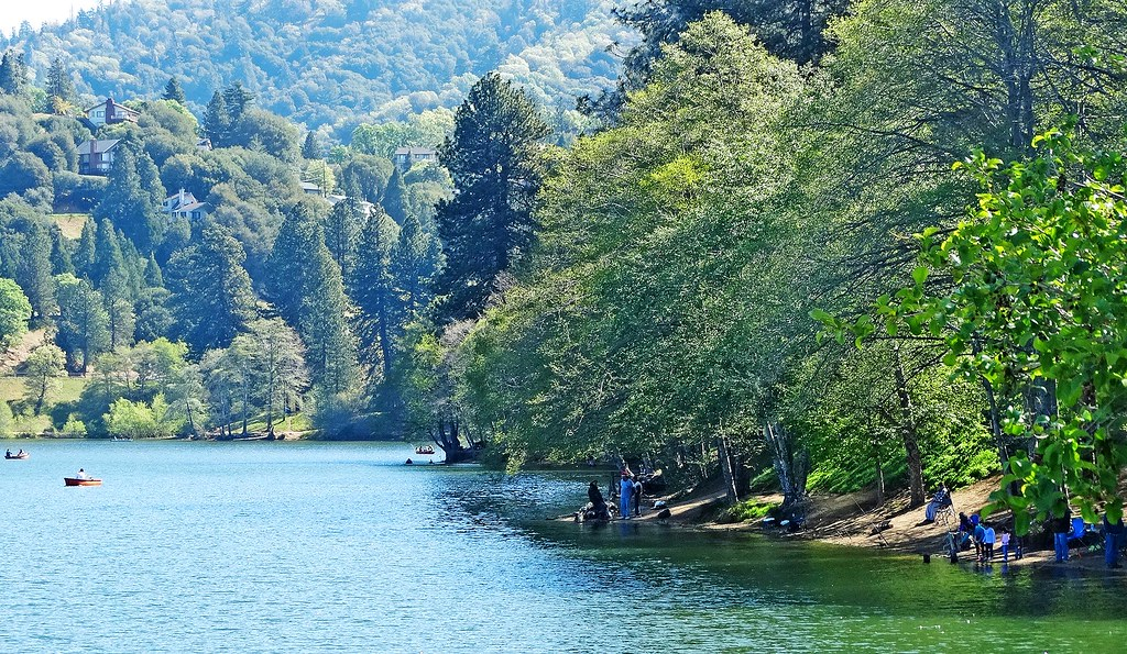 Day at the lake lake gregory ca 3 15 1 in a multiple for Lake gregory fishing report