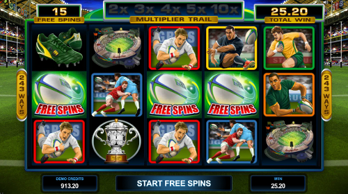 Rugby Star Free Spins
