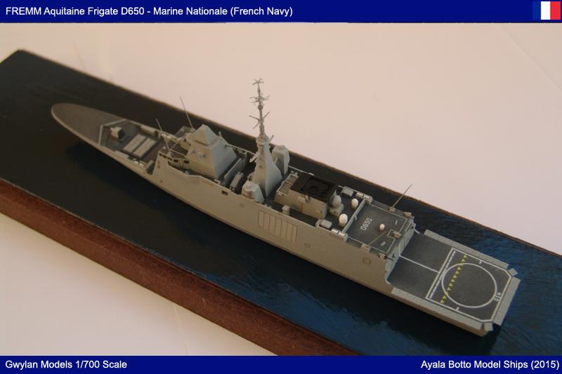 FREMM Aquitaine D650 Frégate ASM - Gwylan Models 1/700 par Ayala Botto 22594789698_53ee0944bb_o