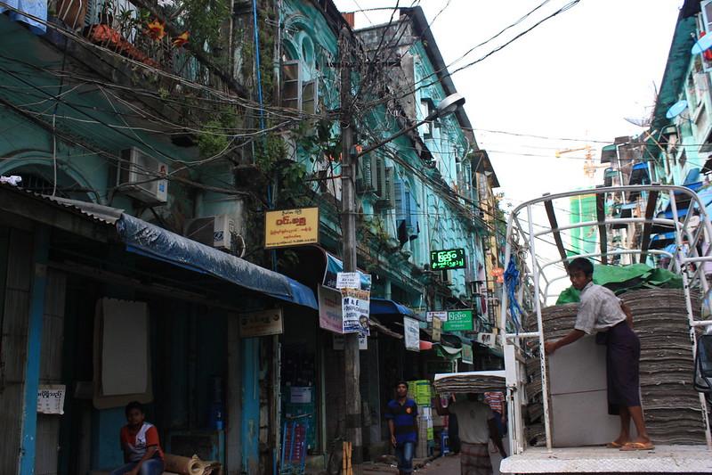 Янгон, Мьянма улицы