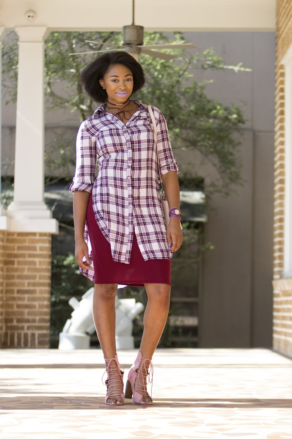 how to wear a longline plaid top, the beauty beau