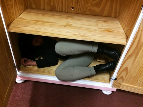 Ana Hiding in Furniture at Diversity Thrift (March 4 2016)