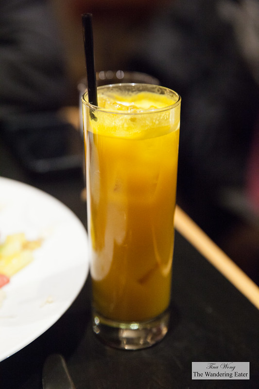 Spicy Roots soda - turmeric, ginger, sweet potato, lime