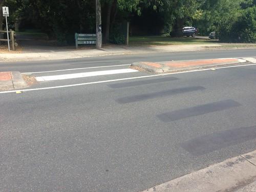 Former pedestrian crossing, Willow Road, Upper Ferntree Gully