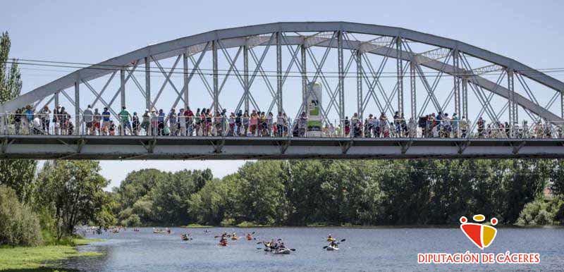"""Descenso del Río Alagón """"Puente de la Macarrona-Puente de Hierro de Coria""""."""
