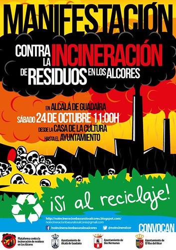 AionSur 21855461719_77da3a1fc4_d Manifestación el día 24 contra la incineración de residuos en Los Alcores Medio Ambiente Provincia  Incineración Alcalá