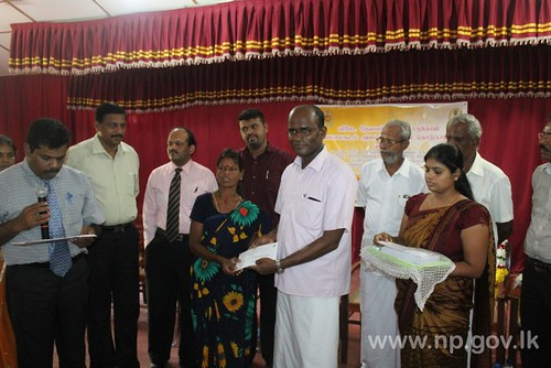Jaffna District special needy people receive Financial Assistance.