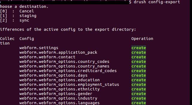 drush-config-export