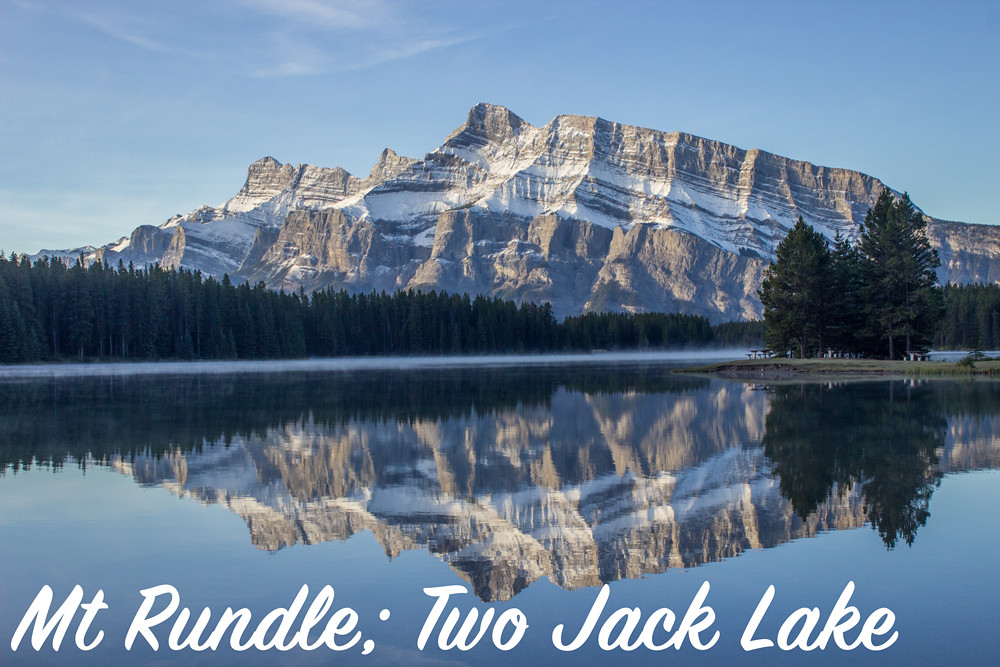 Early morning at Two Jack Lake, Mount Rundle, Banff