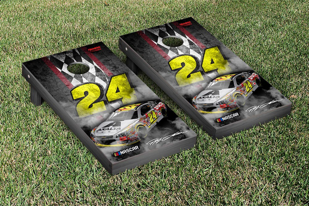 JEFF GORDON #24EVER CORNHOLE GAME SET CONCRETE VERSION (1)